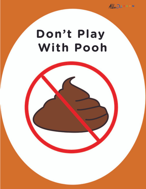 DON'T PLAY WITH POOP: SOCIAL STORY: BASIC LIVING SKILLS 8 PAGES