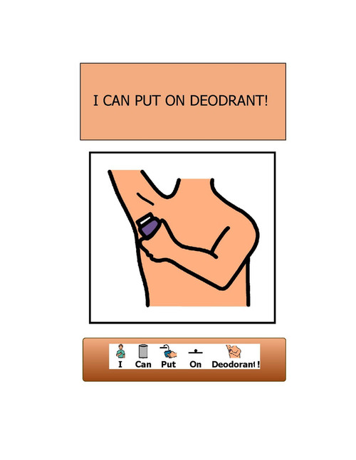 I CAN PUT ON DEODORANT- BOY VERSION: SOCIAL STORY:  BASIC LIVING SKILLS 11 PAGES