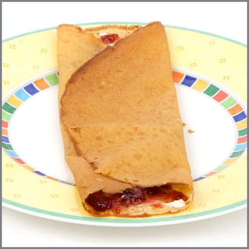 Jam and Cream Cheese Crepe  Visual Recipe with Comprehension Sheets: 18 Pages