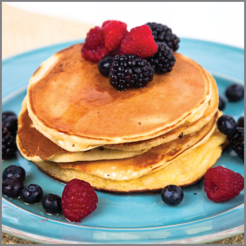 Pancakes  With Berries ( Aunt Jemima) Visual Recipe And Comprehension Sheets: Pages 25