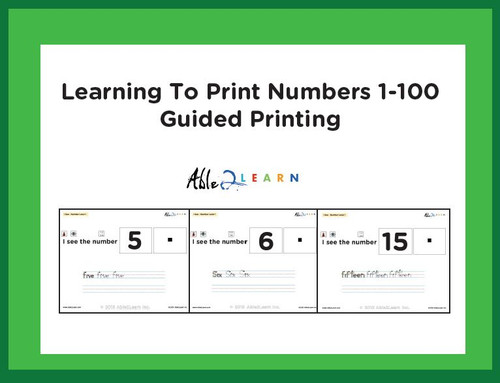 I SEE Matching Numbers 1-100 and Guided Printing Adapted Book : Free