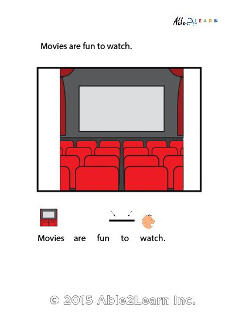 I Can Go To The Movie Theatre: SOCIAL STORY 14 PAGES