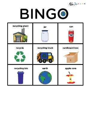 Recycling And Earth Day Bingo Social Studies Free Aba