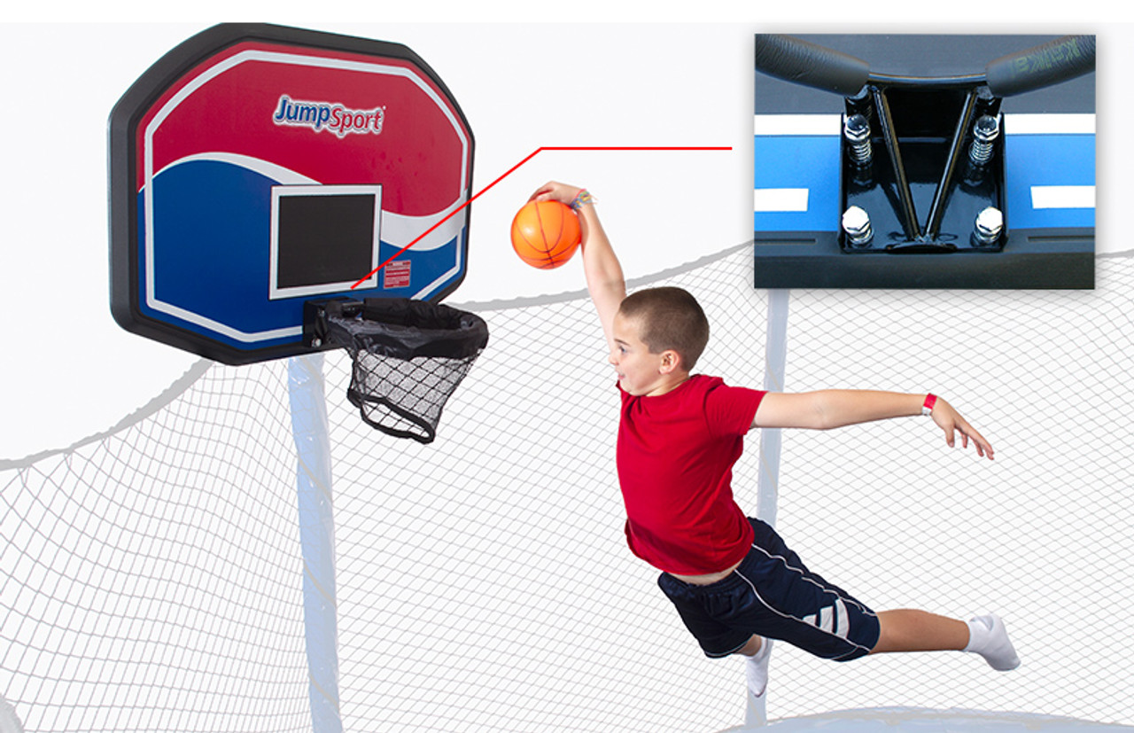 Basketball game for trampoline with Basketball and Hoop