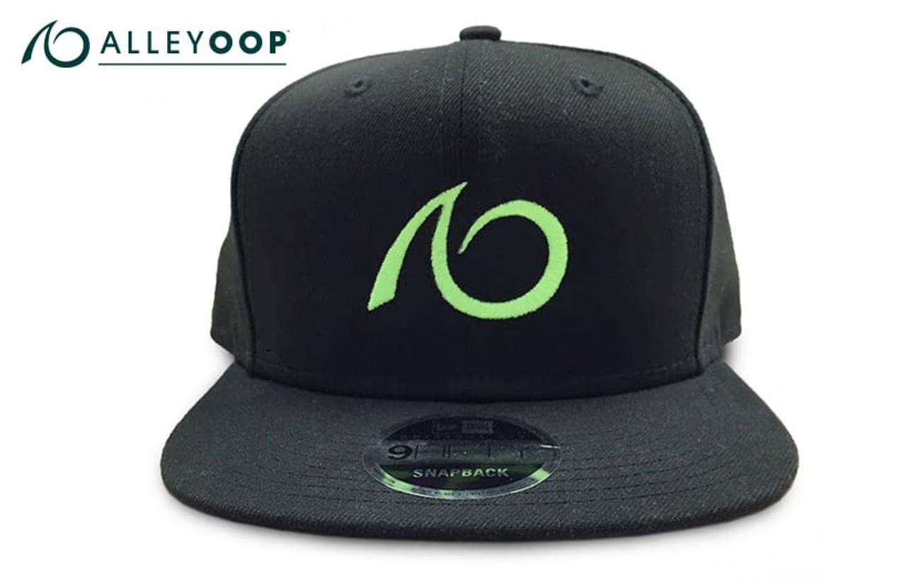 3629c1b177748 AlleyOOP Logo Flat Brim Snapback Hat - Black - JumpSport.com