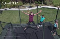 AlleyOOP 10'×17' Rectangular Trampoline with Enclosure