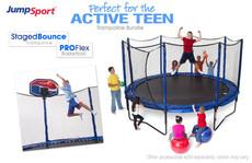 StagedBounce 14' Trampoline & Basketball Hoop Bundle