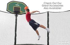 AlleyOOP 12' Trampoline with Enclosure basketball hoop