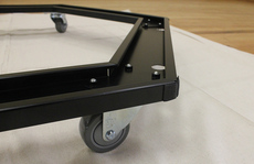 Rolling Storage Cart for JumpSport Fitness Trampolines close-up
