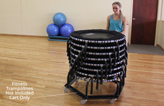 Rolling Storage Cart for JumpSport Fitness Trampolines image