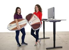 Santa Cruz Wurf Board For Standing Desks in the office