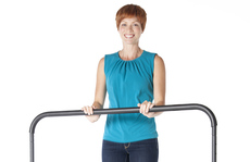 """Quick-Release Handle Bar for 44"""" Trampolines Example"""