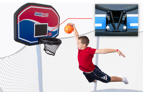 JumpSport Classic ProFlex Trampoline Basketball Set product image