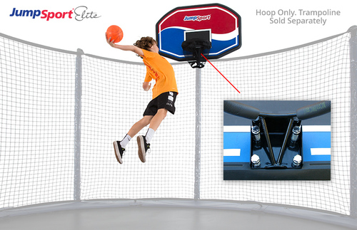 JumpSport Elite ProFlex Basketball Set For Trampolines