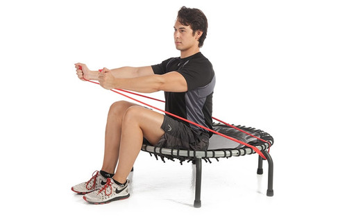 Flat Resistance Bands for Exercise - sitting