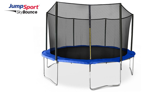 JumpSport SkyBounce 14' Trampoline with Enclosure