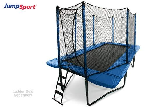 StagedBounce 10'×17' Rectangle Trampoline with Enclosure