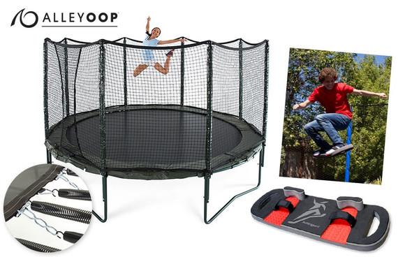 AlleyOOP PowerBounce 14' Trampoline & BounceBoard Bundle