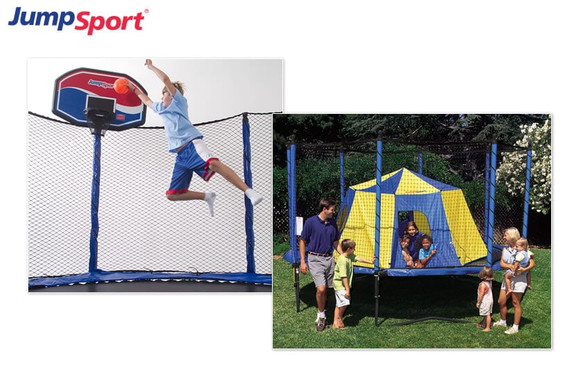 Summer Fun Pack - Trampoline Basketball Hoop & Tent