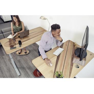 "Wurf Electric Standing Desk – 60"" in office"