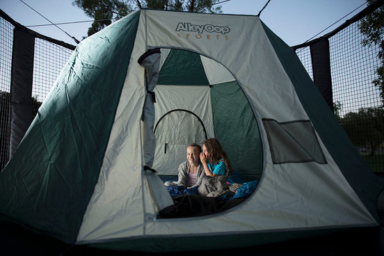 "NEW! Starter Bundle for Round Trampolines (incl. Outback Tent, Anchor Kit,  40"" Fun Ball, Sml Hoppy Ball)"