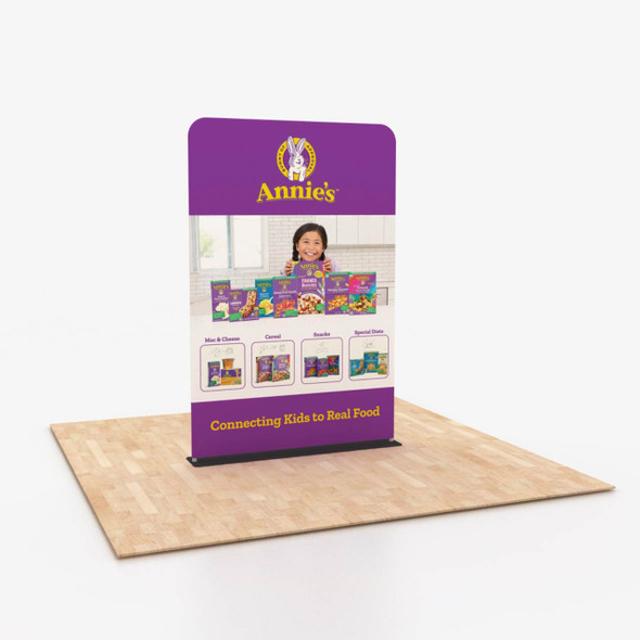 """60"""" wide x 90"""" tall Fabric Banner Stand Single-Sided Portable Trade Show Display"""