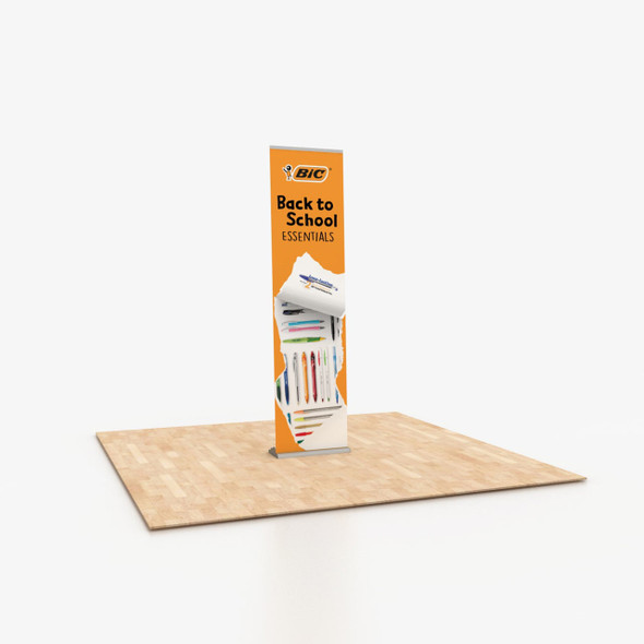 """24"""" x 96"""" Fabric Print Portable Retractable Banner Stand"""