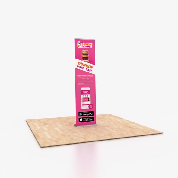 "24"" x 96"" Vinyl Print Portable Retractable Banner Stand"