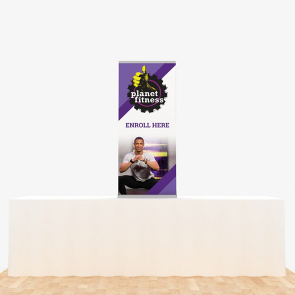 """24"""" x 56"""" Vinyl Print Retractable Banner Stand Table Top Display"""