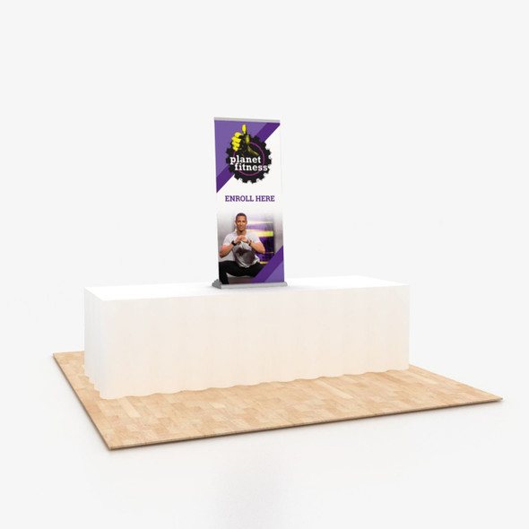 """24"""" x 56"""" Vinyl Print Portable Retractable Banner Stand Table Top Display"""