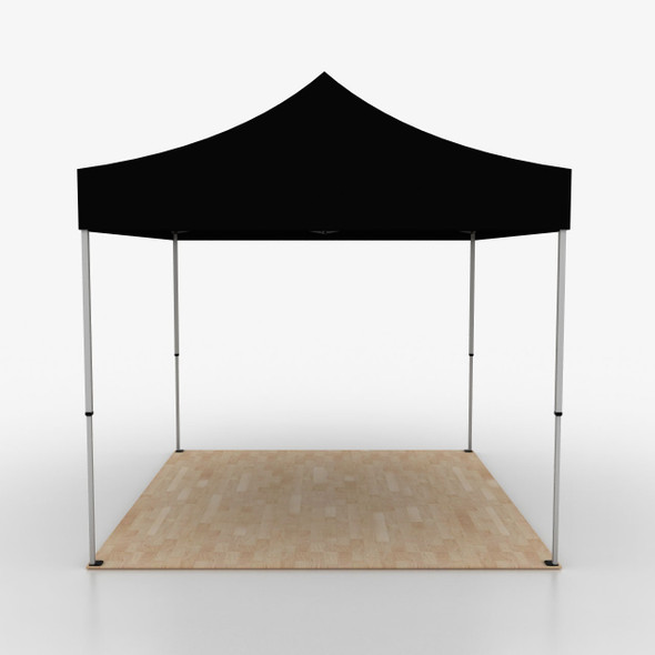 10' Outdoor Pop Up Event Tent - Black Solid Color Unprinted