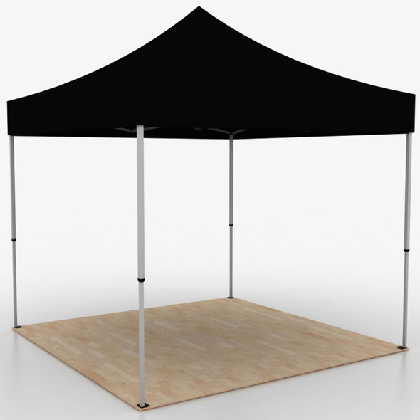 10FT Outdoor Pop Up Event Tent - Black Solid Color Unprinted