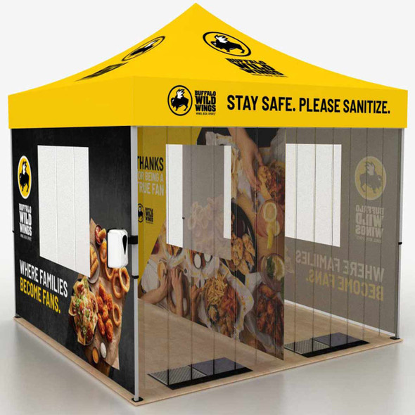 10FT Outdoor Disinfection Steel Pop Up Event Tent - Custom Graphic Prints perfect for senior  living facilities and community centers