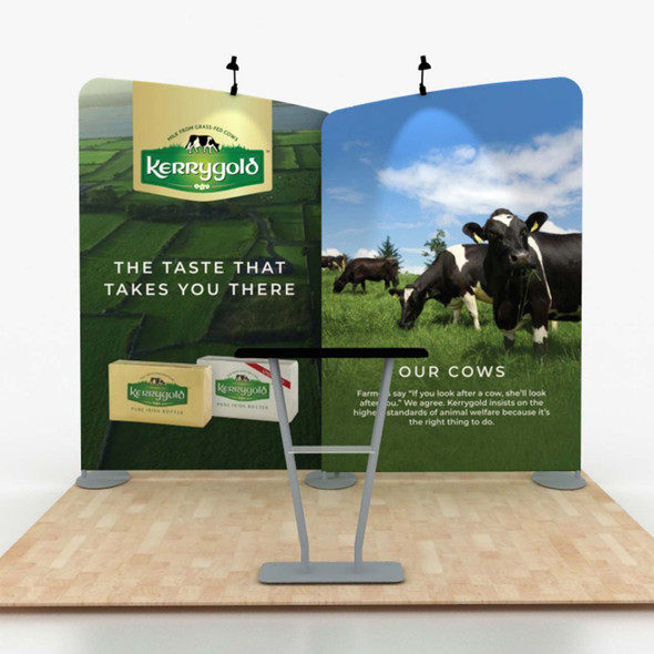 10' Foot Modular Tension Fabric Portable Trade Show Display Medallion 104B with Counter