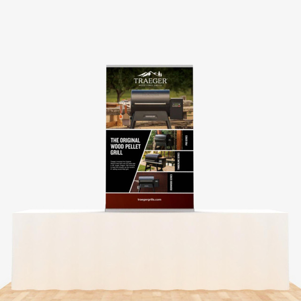 """36"""" x 60"""" Vinyl Print Retractable Banner Stand Table Top Display"""