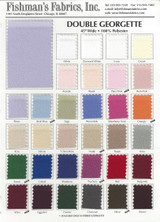 Double Georgette Color Card 1