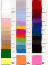 Poly Crepe de Chine Color Card