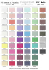 Tulle & Netting Color Card