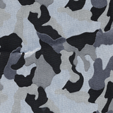 Camo Apocalypse Brocade - Black/White/Grey - Camouflage Pattern