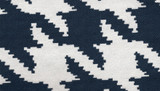 GRAND HOUNDSTOOTH - NAVY - Pied-de-Poule Pattern