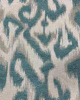 Lawford Geometric Chenille - Teal / Camel