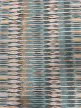 Mahony Contemporary Geometric - Teal/Gold Fabric