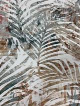 Gaugi Polyester Print Floral - Camel/Sage/Brick