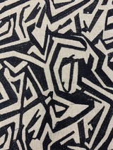 Congo Embroidery Geometric - Black / Camel