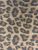 Leopard Velvet Print - Brown