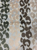 Jupiter Geometric Velvet Leopard - Brown / Taupe / Grey
