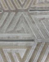 Saturn Geometric Velvet - Grey / Camel / Taupe
