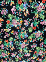 Floral Print Black/Green/Red