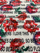 Peonies Floral - Red / White / Green