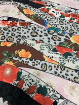 Floral Leopard - Red/Beige/White